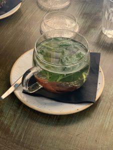 Basil cardamom tea