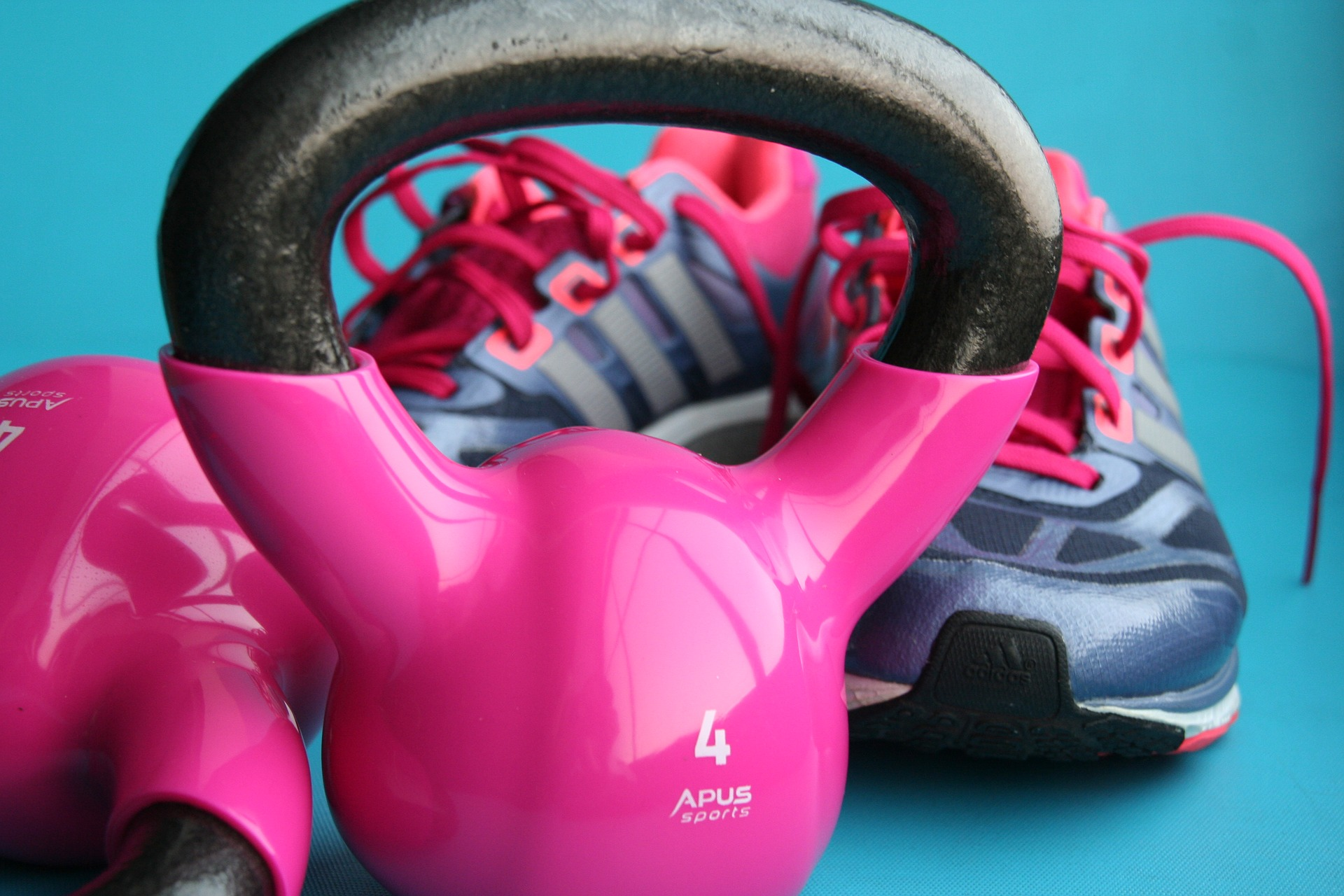 Kettlebell and sneakers